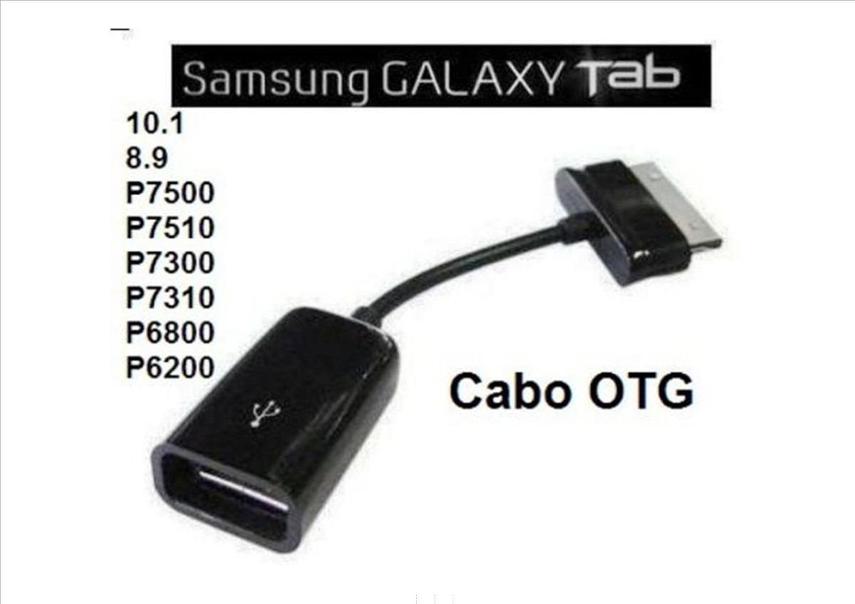 cabo usb otg samsung galaxy tab p7500 p7510 p7300 7310 p6200