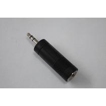 Plug Adaptador, P2 Macho Stereo X J10 Ou P10 Fêmea Stereo