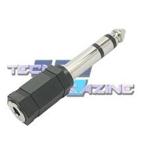 Plug Adaptador P2 Para P10 Stereo Audio Mesa De Som Notebook