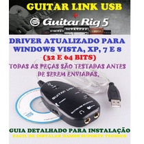 Guitar Link Interface De Audio Usb + Guitar Rig + 2 Palhetas