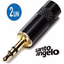 2 Plug P2 Estereo Santo Angelo Profissional ( 07431 )