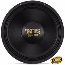 Subwoofer Eros 18 Polegadas E-18 Target Bass 3 K 1500w Rms