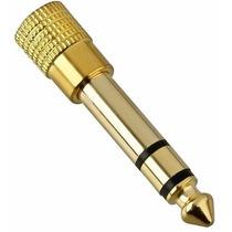 Plug Adaptador P2 P10 Stereo Gold Dourado P/ Koss Akg Sony