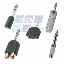 Kit Plug Conector Adaptador Rca P10 P2 J10 J2 5 Peças