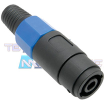 Plug Speakon Conector Femea Canon Xlr 4 Vias Cabo Caixa Som