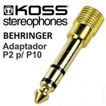 Plug Adaptador P2 / P10 C/ Pioneer Senheiser Akg Sony Koss