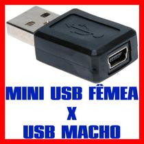 Conversor Conector Adaptador Mini Usb 5 Pinos P Usb A Macho
