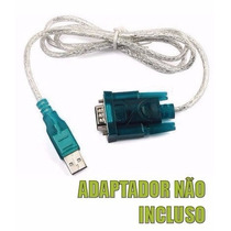 Kit Cabo Conversor Usb P/ Serial Rs232 Macho + Adaptador Db9