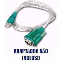 Cabo Adaptador Conversor Usb Serial Rs232 + Adaptador Db9