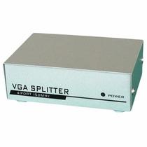 Distribuidor Video Cabo Vga Splitter Divisor 1x4 Amplificado