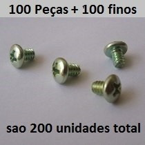 Lote Com 100 Parafusos Cpu Placa Mae