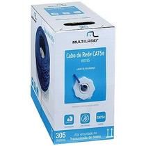 Cabo Lan Utp Cat5e Cca 24awg Wi185 305m Azul Multilaser