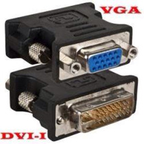 Adaptador Dvi-i Dual Link Macho (24+5) X Vga Fêmea Conversor