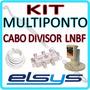 Kit Lnbf Elsys Multiponto Banda C + Cabo 15m + Divisor 4x1