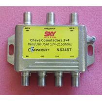 Chave Comutadora 3x4 - Diplexer - Divisor 50 Pçs