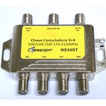Chave Comudadora 3x4 Diplexer