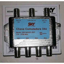 Chave Comutadora 3x4