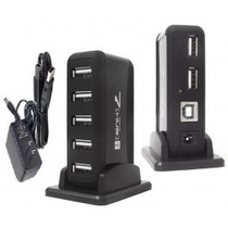 Hub Usb 2.0 Com 7 Portas High Speed 480mbps Fonte Bivolt