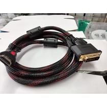 Cabo Conversor Transmissor Adaptador Hdmi Para Dvi 1,8m