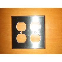 Espelho Duplo Para Tomada Hospital Grade Aço Inox Importado