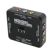 Hub Switch Rca 3 Entradas Uma Saia Audio E Video Sinal