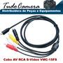 Cabo Av Rca Svideo 15fs Filmadora Sony Hdr-cx160 Cx190 Cx200