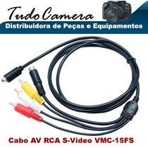 Cabo Av Rca S-video 15fs Filmadora Sony Dcr- Sr85 Sr87 Sr88