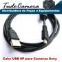 Cabo Usb 8p Para Camera Sony Dsc- J20 Tf1 H200 H300 H400
