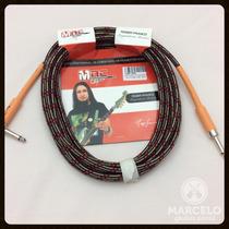 Cabo Guitarra Signature Roger Franco Textil 3mts,somos Loja!