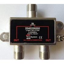 Divisor 1x2 Alta 5-2500mhz Tele System 2 Saídas 100 Unidades