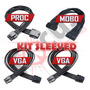 Kit De Cabos Sleeved Para Processador, Placa De Vídeo E Mobo