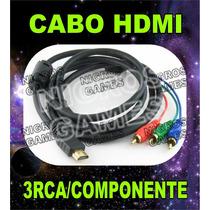 Cabo Hdmi Para 3 Rca Video Componente Pronta Entrega