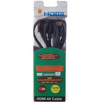 Cabo Hdmi V1.3 Banhado A Ouro 1,8mts-ps3 / Xbox Game, Hdtv