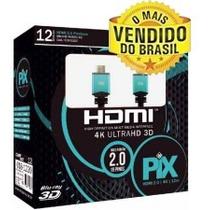 Cabo Hdmi 2.0 - 12 Metros - 4k Ultra Hd 3d - Melhor Preço!
