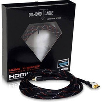Cabo Hdmi High Speed Home Theather 8 Metros - Diamond Cable