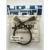 Cabo Hdmi 40cm 1080p 3d Full Hd P/ Tv Monitor Led Lcd Ps3