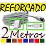 Cabo Carregador Usb Top 2 Metros Iphone Ipod Ipad 2 3 4 5