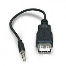 Cabo Adaptador Plug P2 X Usb Femea Para Autorádio Mp3/mp4