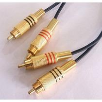 Cabo 2 Rca + 2 Rca Gold 10 Metros P/ Audio E Video