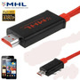 Cabo Mhl Hdmi P/ Samsung Galaxy Note 2 S3 Siii S4 2 Metros