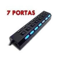 Hub De Usb 7 Portas 2.0 Hd Extensor High Speed Pen Drive Hd
