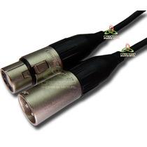 Cabo Microfone Xlr Cabo Sparflex Conector Amphenol 5 Metros