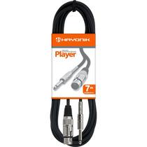 Cabo Para Microfone Player Xlr F X Plug P10 7 Metros Hayonik