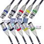 5 Cabos 5mt Plug Conector Xlr Canon Microfone Balanceado Dmx