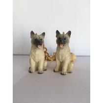 2 Chaveiros Akita Cães De Raça Cachorro * Frete Grátis *