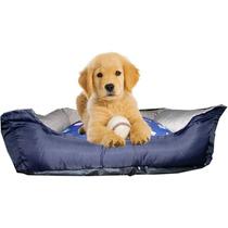 Cama Caminha Cachorro Gato Conforto Bolita Pet Azul M