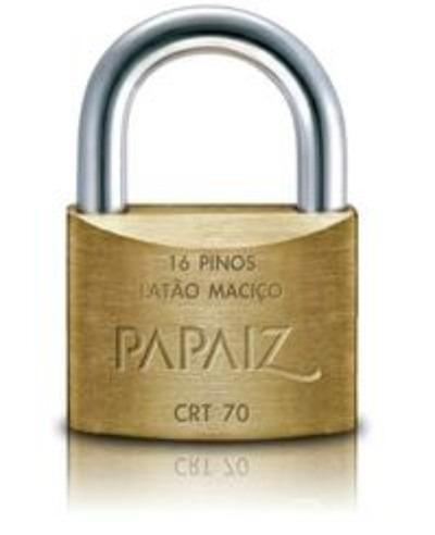 Embalando um contrabaixo elétrico para envio Cadeado-papaiz-70mm-chave-tetra-crt-70-nota-fiscal-14479-MLB3391059145_112012-O