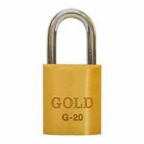 12 - Cadeados 20mm Latão Maciço Gold Produto Nacional