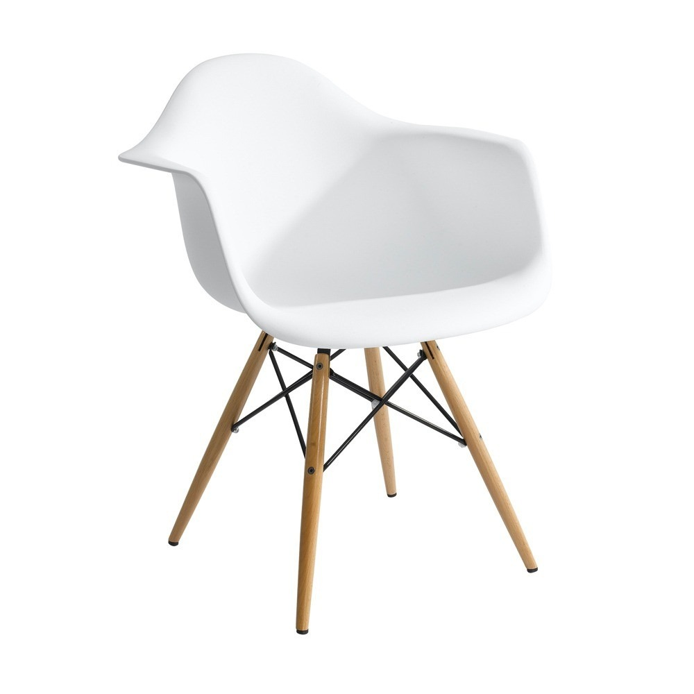 Cadeira charles eames wood daw com bra os design r for Reproduction fauteuil charles eames