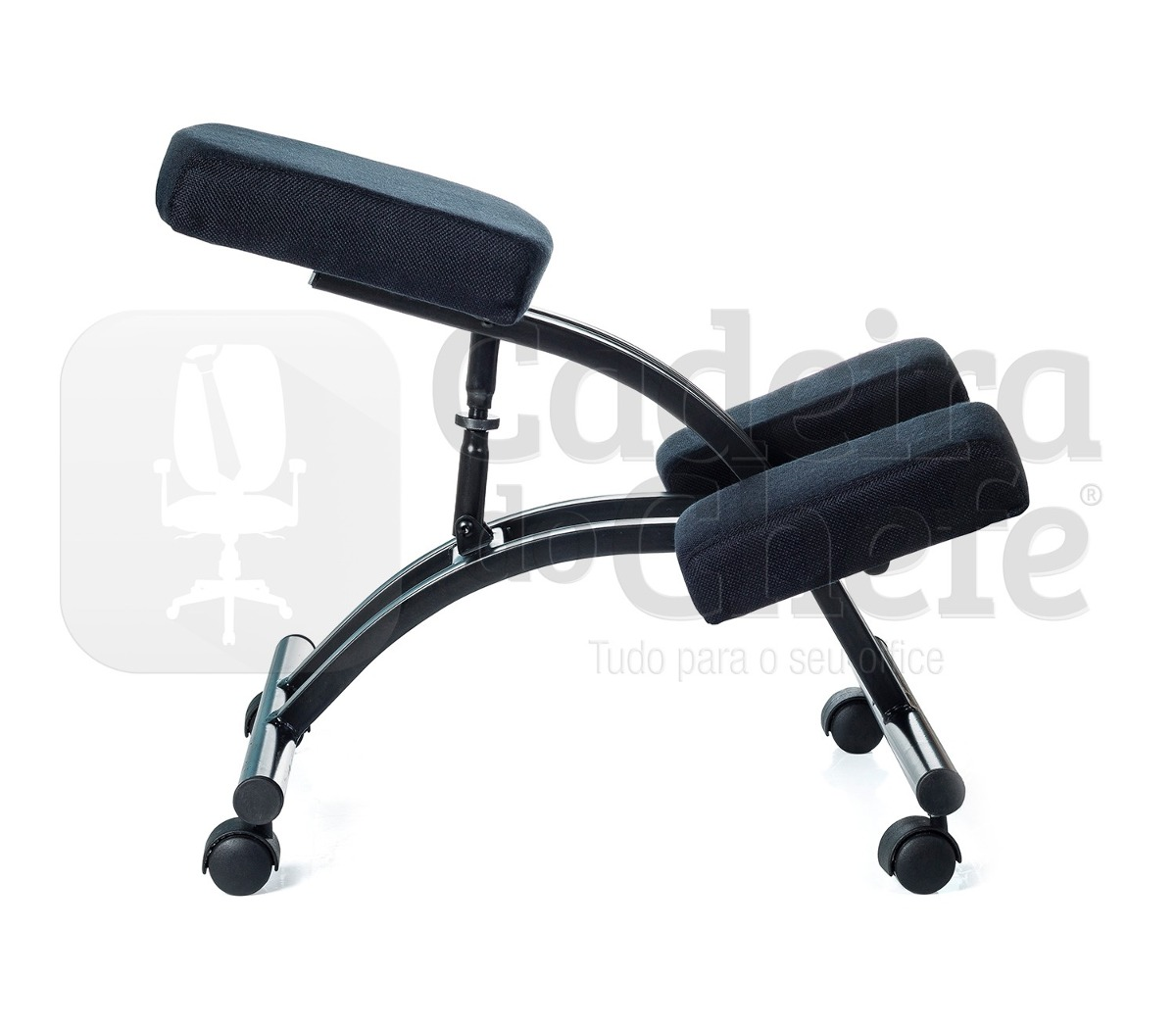 Cadeira Ergonômica De Joelho (kneeling Chair) Preta R$ 279 90 no  #424F5C 1200x1050